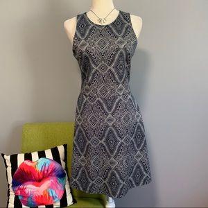 H&M Geometric Print Fit & Flare Dress D1